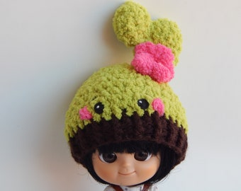 Crochet Cactus Hat for Mini MuiChan and Dal