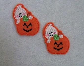 Ghost Pumpkin Feltie