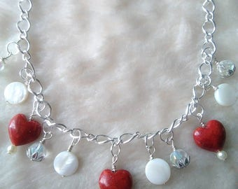 Coral & Shell Necklace