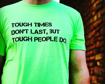 Men's Fitted Triblend Tee  Tough Times