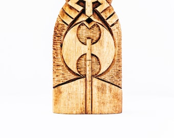 Wooden figurine - a god VALI. Nordic god Váli. A chic Scandinavian Gift for him / Gift for her