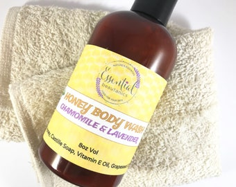 Chamomile Body Wash | Lavender Body Wash | Liquid Soap | Body Soap | Honey Shower Gel | Natural Cleanser | Gift For Girlfriend