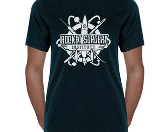 Rocket Surgery T shirt- rocket science- gifts for surgeons- gifts for scientists- t-shirt- science humor- NASA- aerospace- engineers- space