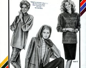 Vintage Stretch & Sew 718 Leggings, Stirrup Pants and Straight Skirt UNCUT Multisize Sewing Pattern Hips 32 34 36 38 40 42 44 46 48 S M L XL