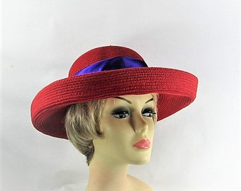Captivating In Crimson Red Hat Society Colors (CC146)