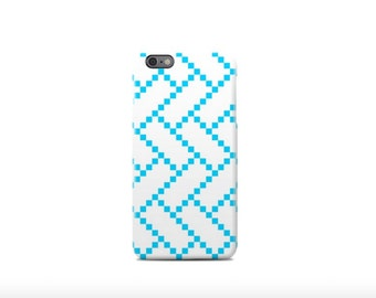 Blue Squares iPhone 6 Case - iPhone 6 Plus Case - iPhone 5 Case - iPhone 5S Case - iPhone 5C Case