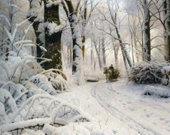 Forest in Winter - Cross stitch pattern pdf format