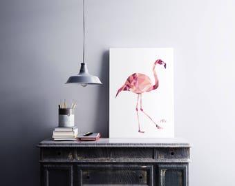 "Poster ""FLAMENT ROSE"" - 30 x 40"