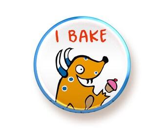 I Bake - button