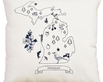 NEW 14x14 Michigan pillow