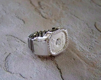 Concho RING ADAPTER Bright SILVER Western Jewelry Supply