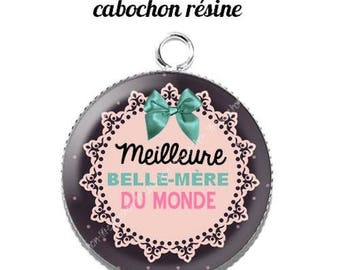 Pendant cabochon resin 20 mm mother-in-law 7