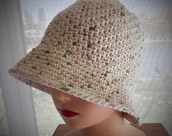 Crocheted Cotton Sunhat, Chemo Cap