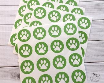 Pawprint Stickers, 64, Paw Print Stickers, Pawprint Envelope Seals, Pawprint Envelope Stickers, Pawprint, Dog, Cat, Scrapbook Stickers