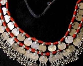 Deluxe Vintage Kuchi Tribal ATS Coin Beaded Belt