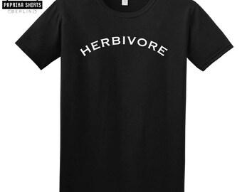 Herbivore t shirt, Vegan shirt, herbivore top, Vegan vibes, graphic Tee, vegan gift, Vegetarian T-shirt, Blogger, Tumblr, Instagram