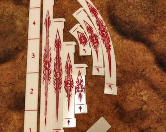 Runewars Movement & Range Templates