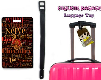 harry potter gryffindor -  #1-026 - luggage tag name