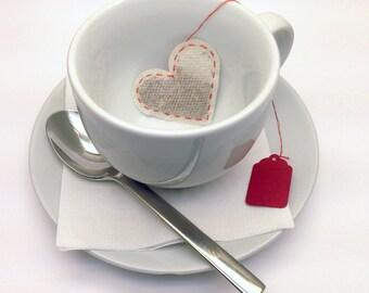 Heart Tea Bags (6 or 12 Pieces)