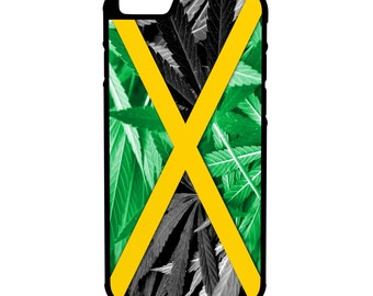 Jamaican Weed Flag iPhone Galaxy Note LG HTC Hybrid Rubber Protective Case
