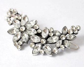Vintage Style Diamante Bridal Hair Clip Wedding Accessory for Bride Hair
