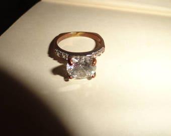 Size 7 ring- Size 7 Unique vintage metal ring-ring- vintage ring- ring gift- vintage rings- -- ring- rings--unique ring-multi gemstone ring