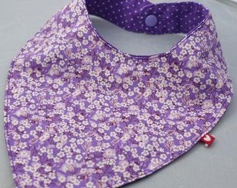 Purple tones robots pattern bandana bib