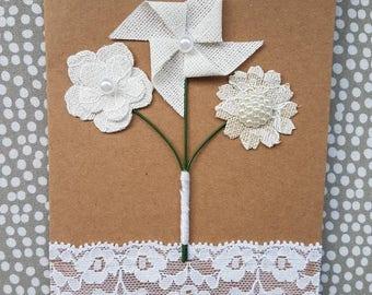 Bouquet of Flowers Blank Card