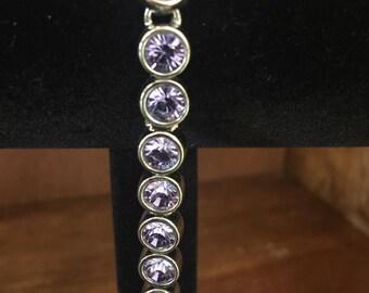 Faux Tanzanite and Silver Tone Bracelet by Mode