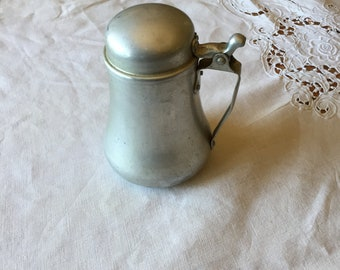 Vintage Aluminum Syrup/Cream  Pitcher