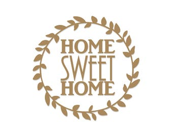Home Sweet Home | Charger Plate Decal | Glass Block Decal | Vinyl Decal | DIY Decal | Vine Decal | Glass Block | Charger Plate | Decal