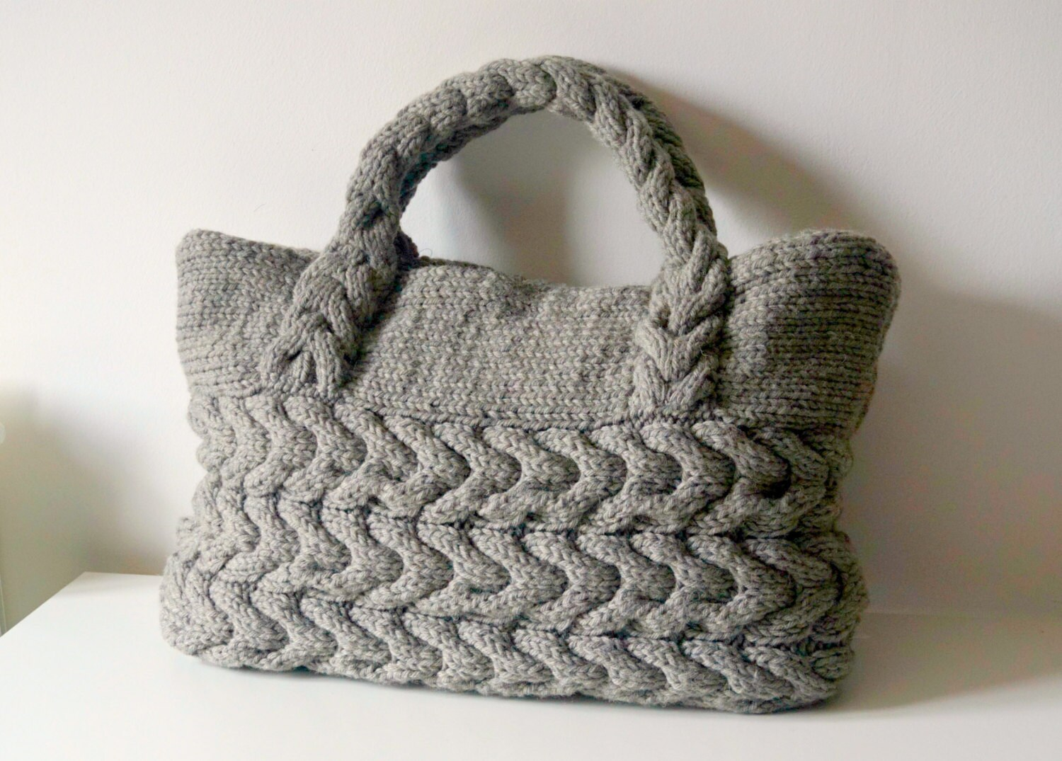 KNITTING PATTERN Cable Bag Knitting Pattern Knit Bag Pattern Bag ...