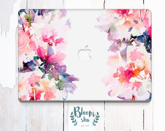 Floral Macbook Decal / Floral print / Macbook Pro Case / Macbook case / Macbook Air sticker / macbook air case / macbook sticker / BS027