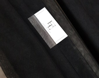 """Black tulle fabric, lingerie tulle fabric, evening dress tulle - 59"""" (150 cm) wide - sold per meter TK9517"""