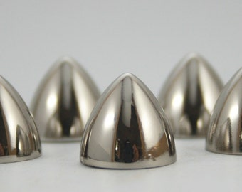 5 sets. Silver Tone Conical Spikes Screw back Cone Studs Leather Craft Decorations Findings 13x12 mm. BS N 0754 SCB 77