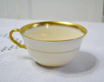 Vintage Pickard China Flat Coffee Cup Gold Band Vine Pattern Replacement Pattern 3021 USA PanchosPorch