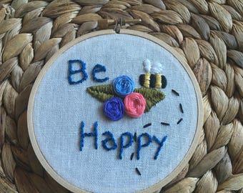 Be Happy kids wall art