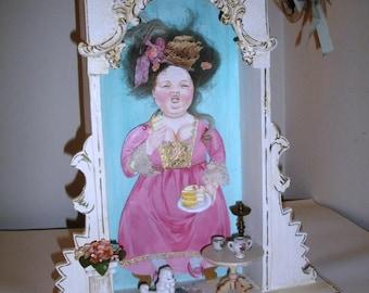 Marie Antoinette Diorama, Spaß, Original OOAK Art von Lori Gutierrez