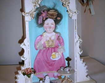 Marie Antoinette Diorama, Fun, Original OOAK Art by Lori Gutierrez