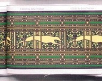 Jane Walker Design Paisley Hound Collar Strip Fabric PS-Green/Multi