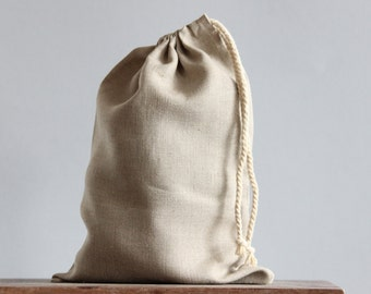 Linen Bread Bag|Laundry Bag|Storage Pouch|Packaging|Natural|Oatmeal|Charcoal|Made In Australia|EcoFriendly|Size Customisable