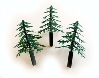 24 Evergreen Tree Cupcake Picks Toppers Decorations Favors Holiday Pine Christmas