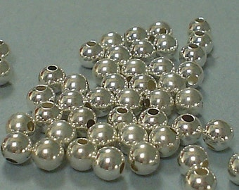 925 sterling silver round beads 6 MM/10 piece