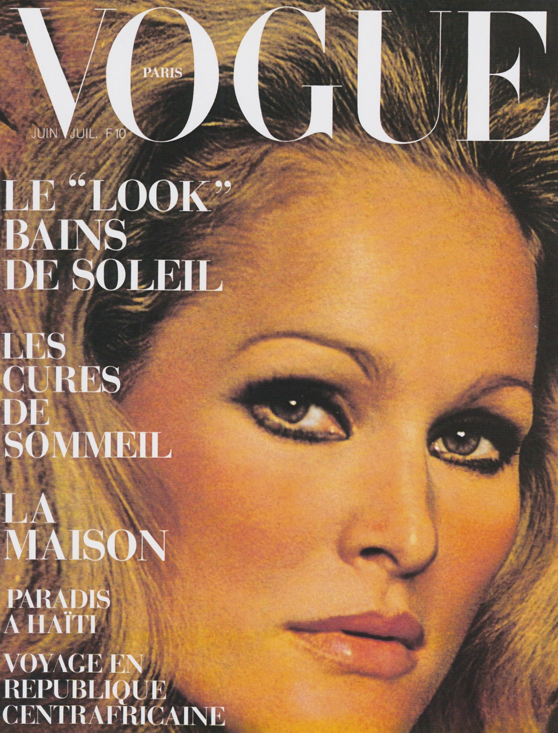 Vogue French Magazine Subscription: Vintage French Vogue Cover Poster Print, Ursula Andress
