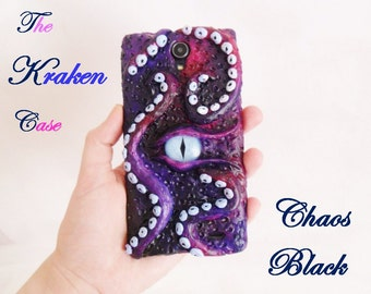 The Kraken Case 3D Monster Phone Eye Sculpt Custom Heels Abyss Sea Mythical cover tentacles octopus squid IPhone Samsung Apple sony xperia