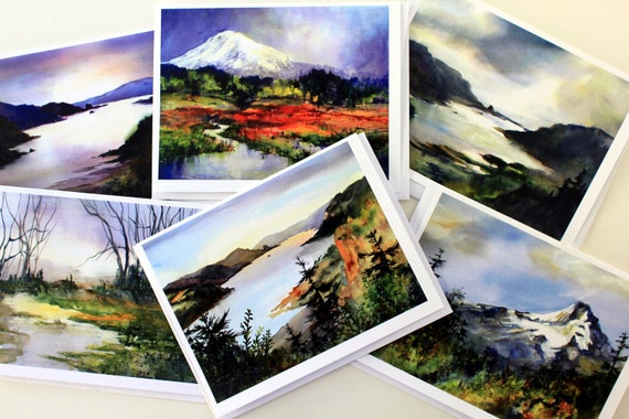 Columbia Gorge Gold - blank note cards - note cards - blank cards - Columbia Gorge - gorge cards - Bonnie White cards - Mt Hood