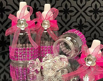 Baby Shower Favor Bottles Pre-decorated with bling 12 count