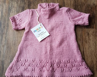 Dusky pink short sleeve dress