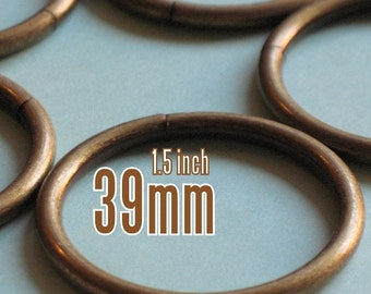 48 Pieces 1.5 inch / 39mm O Rings (available in Nickel, and Antique brass)