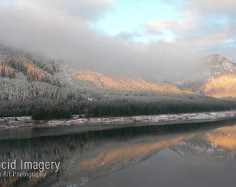 Washington State winter refection -8x10